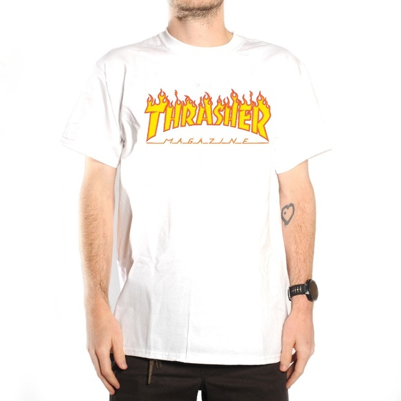 43c9edbcd236 San Francisco Men s  Thrasher  Fire Logo T-Shirt